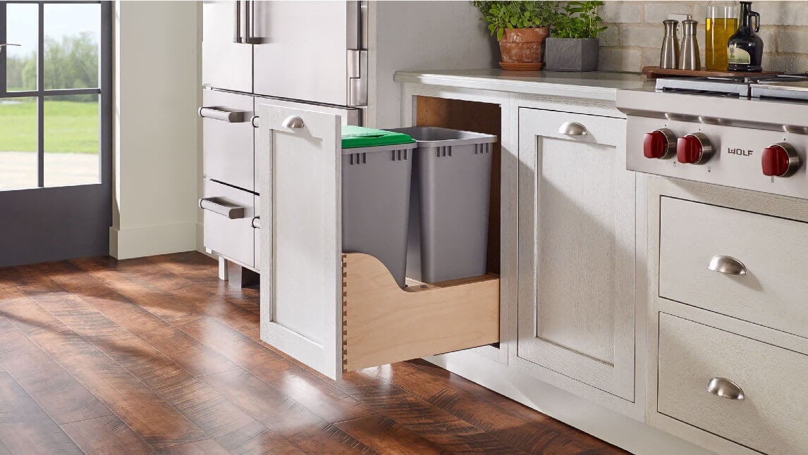 The Rev-A-Shelf Pull-Out Waste Container