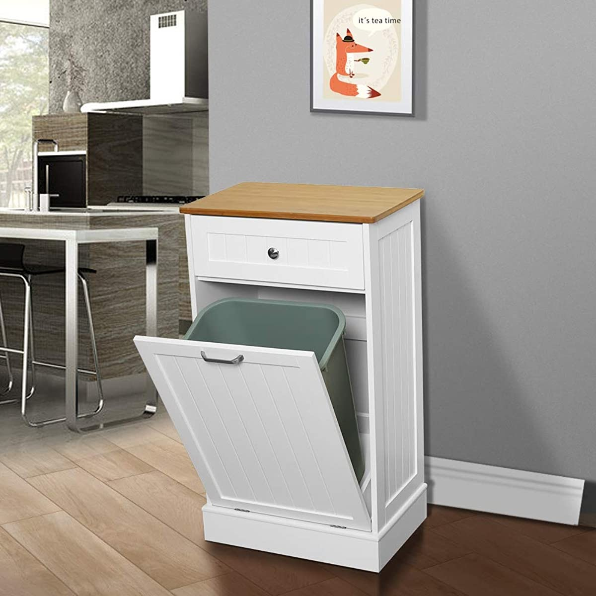 U-Eway Wooden Tilt-Out Trash Cabinet