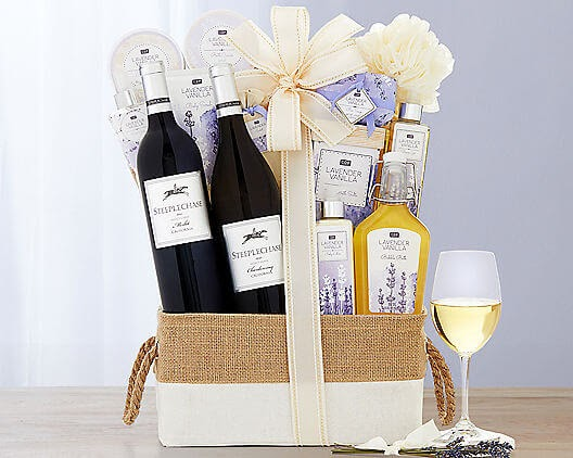 Steeplechase Vineyards Spa Collection Gift Basket