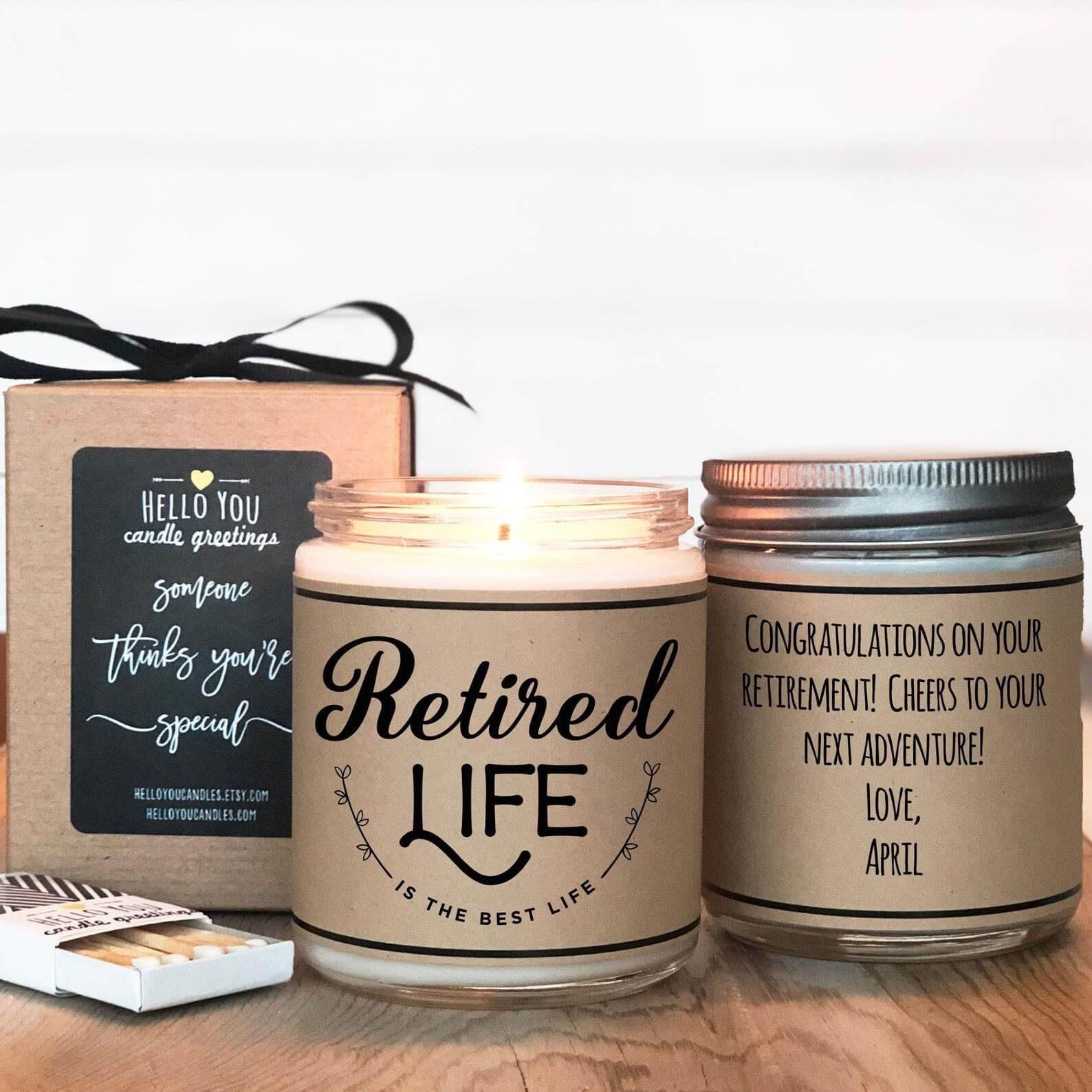 Retired Life Candle