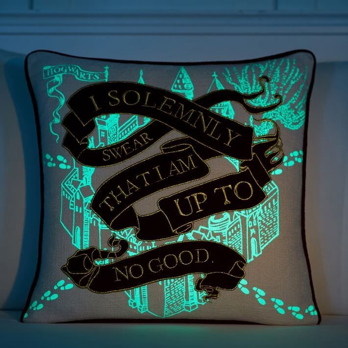 Harry Potter Glow in the Dark Pillow Cover