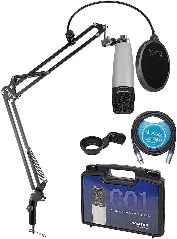 Samson C01 Large-Diaphragm Condenser Microphone Set