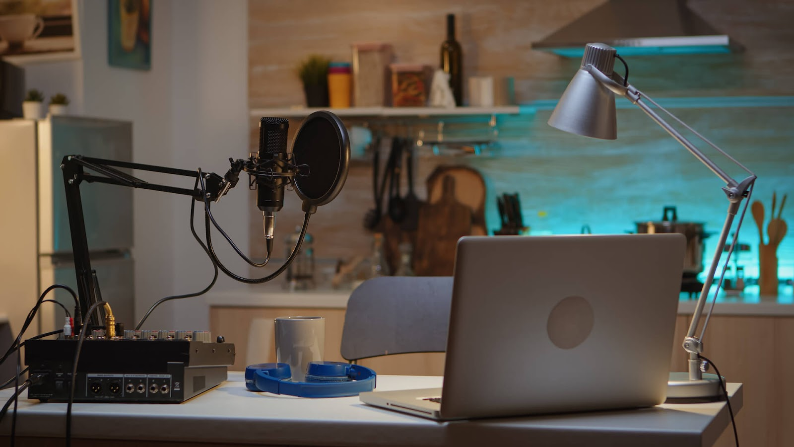 Home studio for podcasting