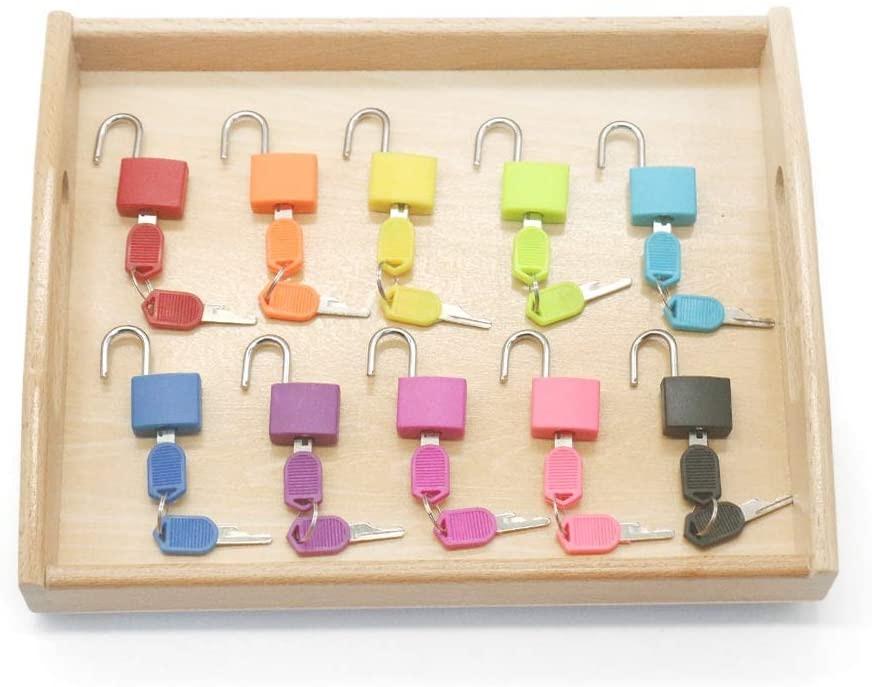 Montessori Material Color Matching Lock Set