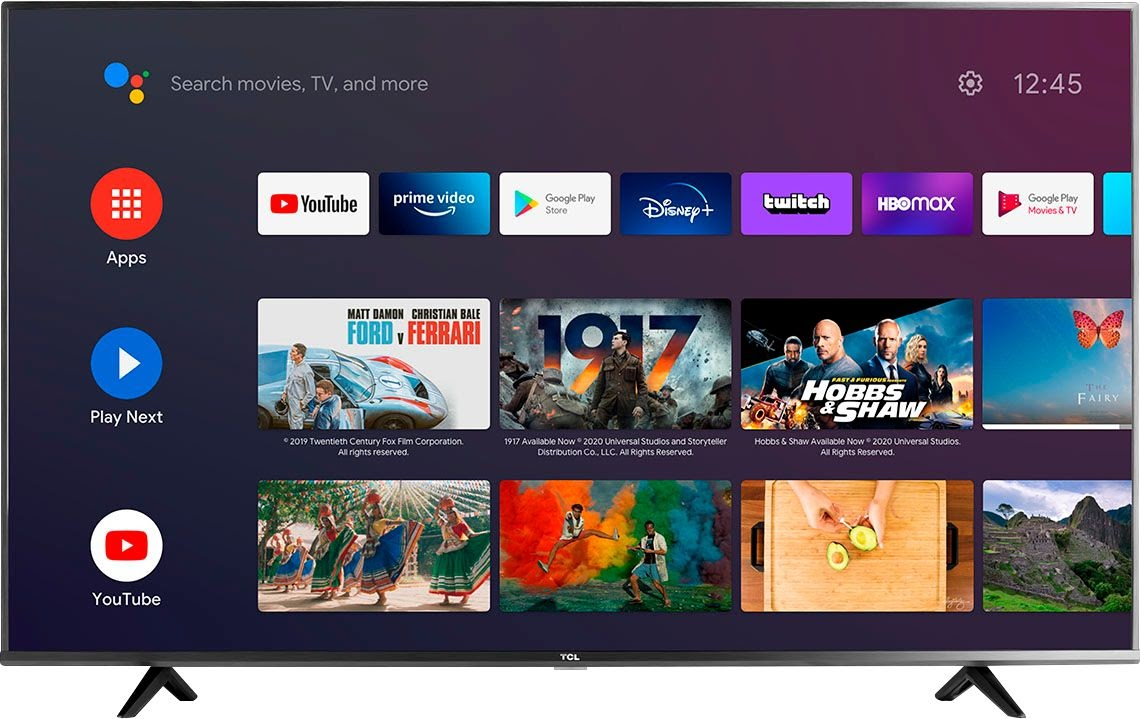 """TCL 55"""" 4K Android TV"""