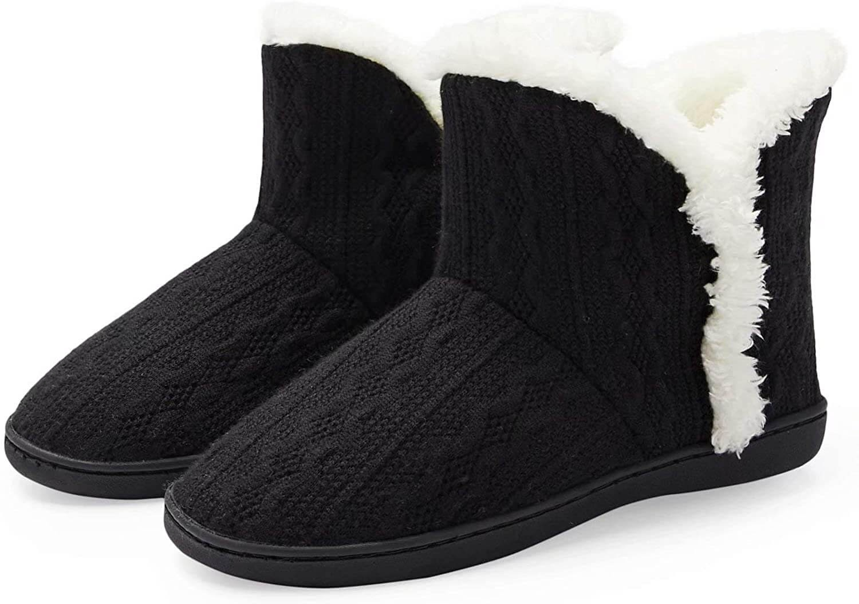 TUOBUQU Womens Warm Bootie Slippers