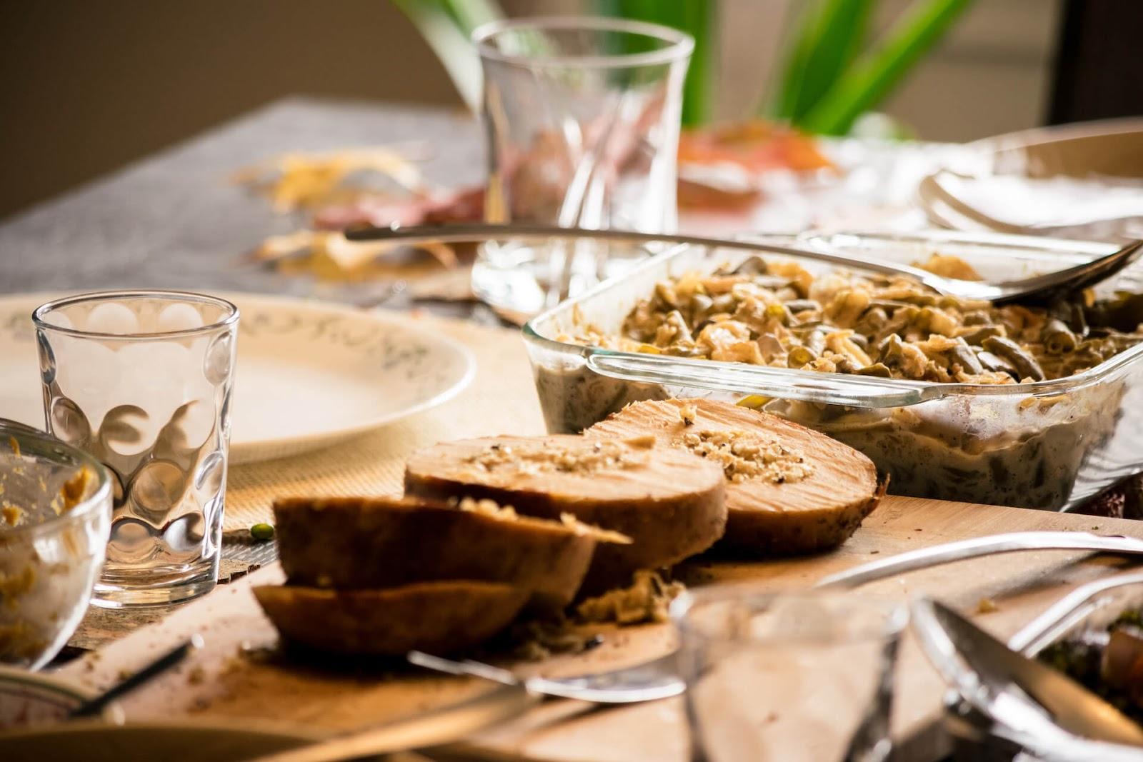 Vegan Thanksgiving meal items