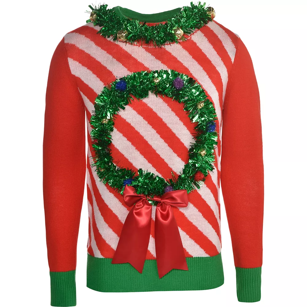Party City wreath sweater