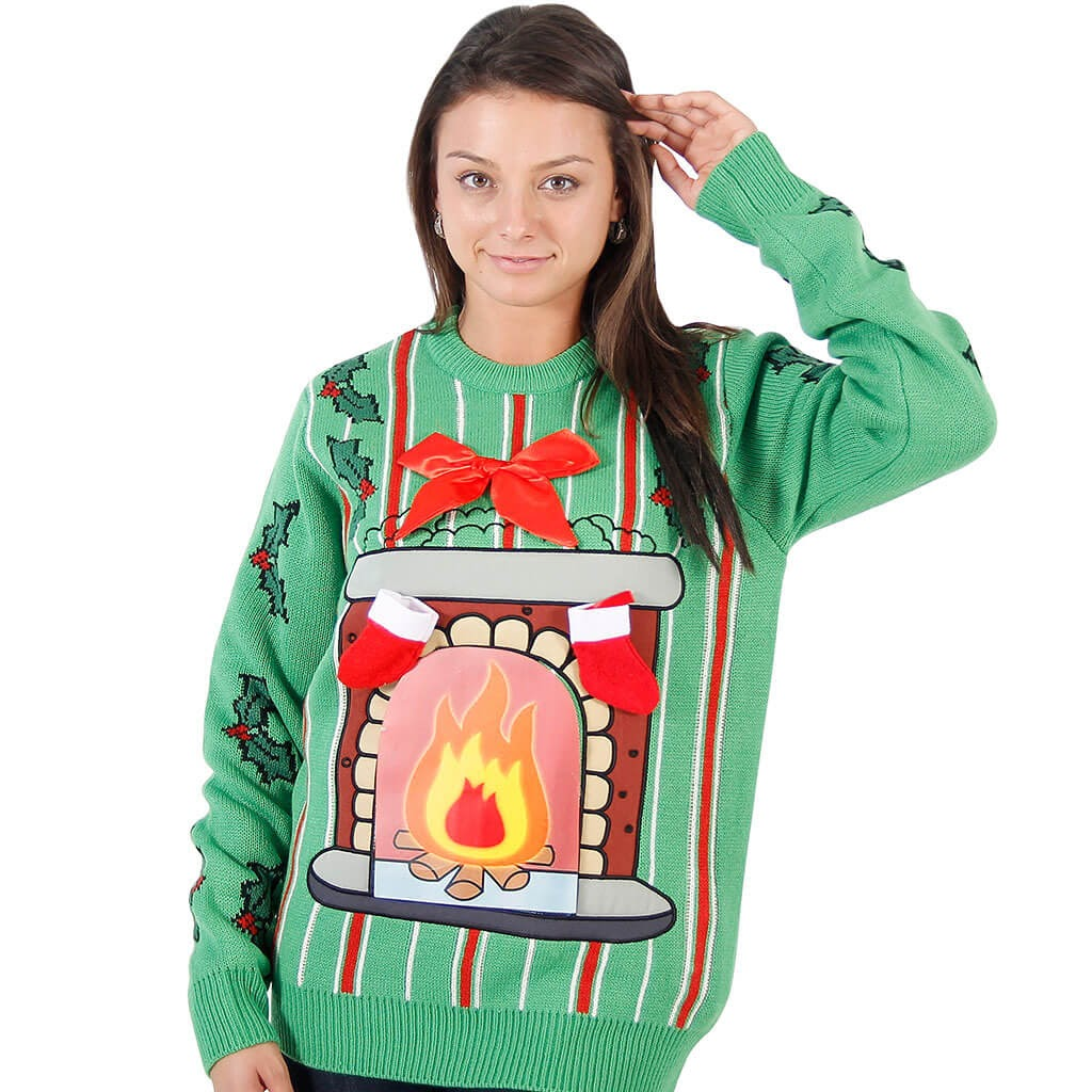 UglyChristmasSweater.com's fireplace sweater