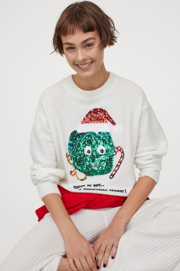 H&M Christmas Sprout shirt