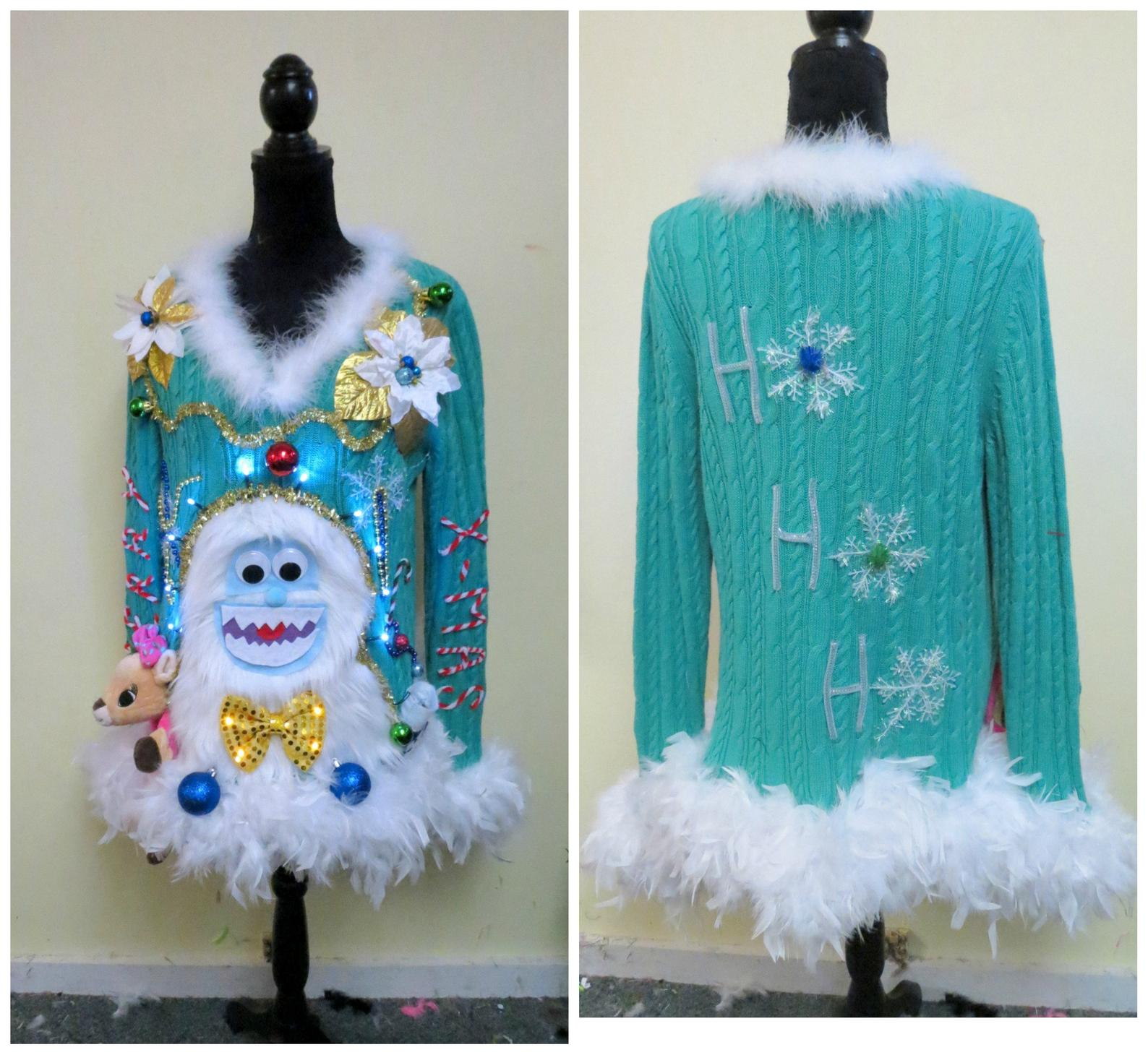 Etsy's abominable snowman sweater