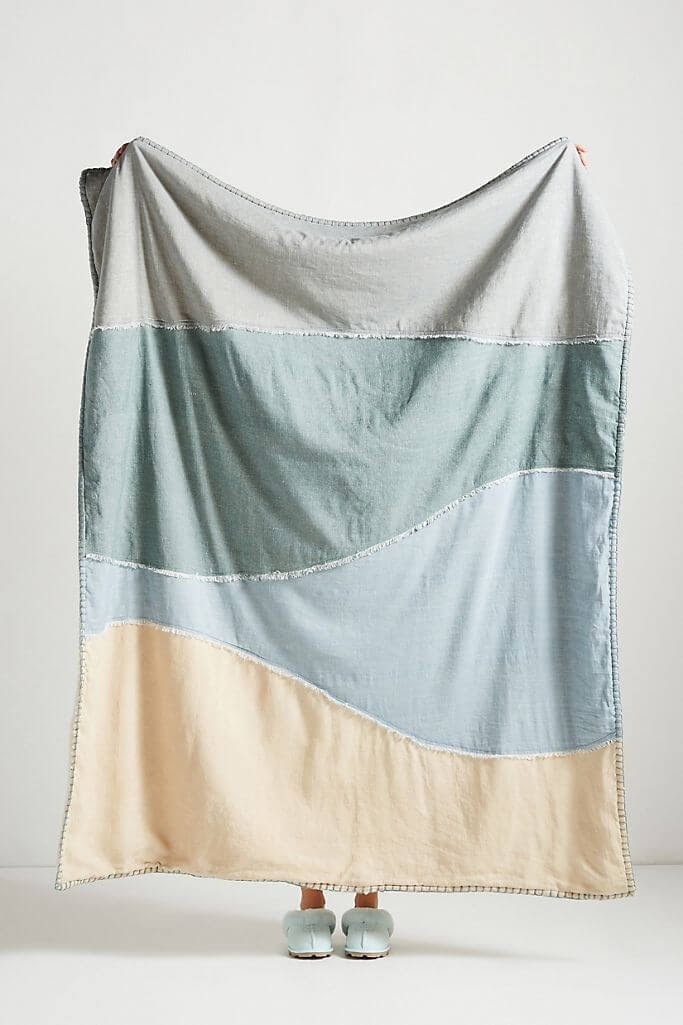 Dannika Sherpa-Linen Throw Blanket