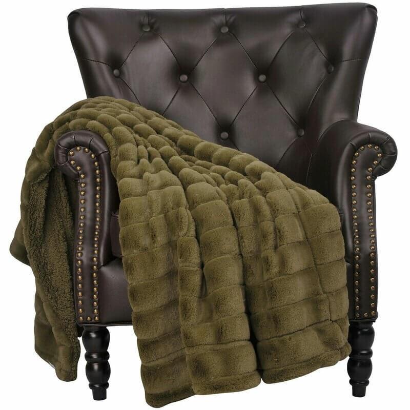 Armando Lightweight Sherpa Cozy Couch Fleece Blanket