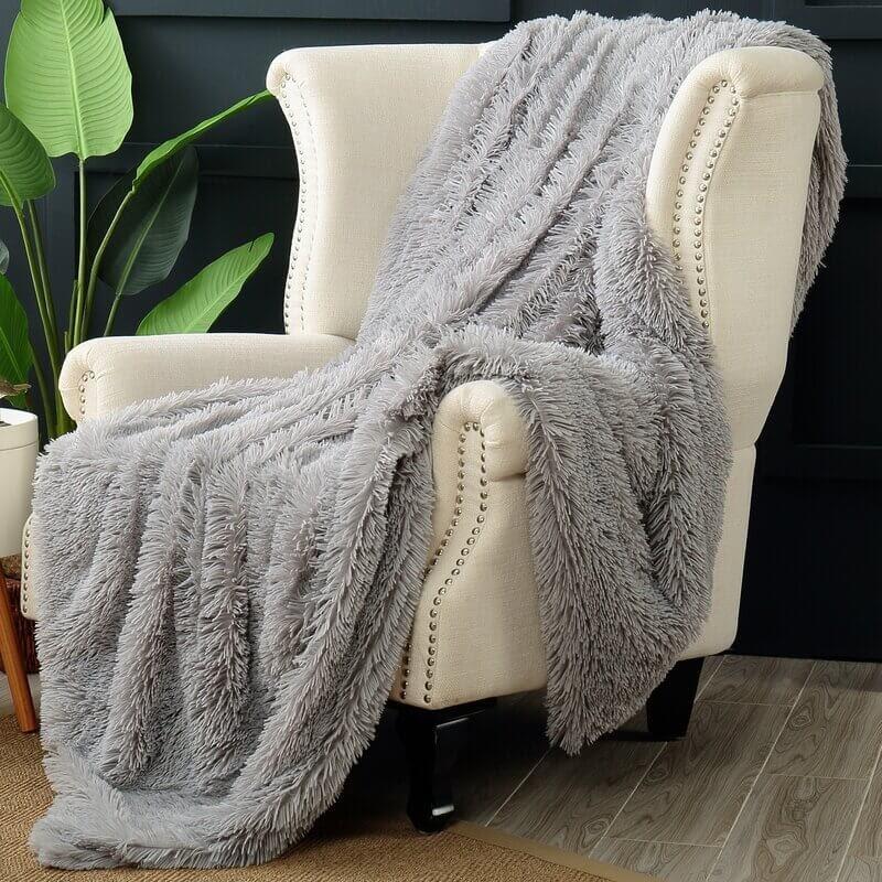 Long Hair Faux Fur Blanket