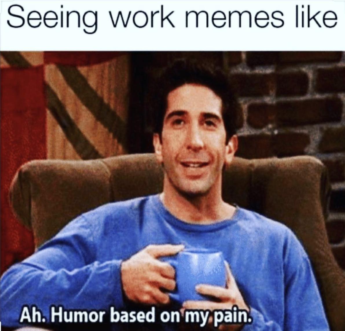 Ross Work From Home Meme