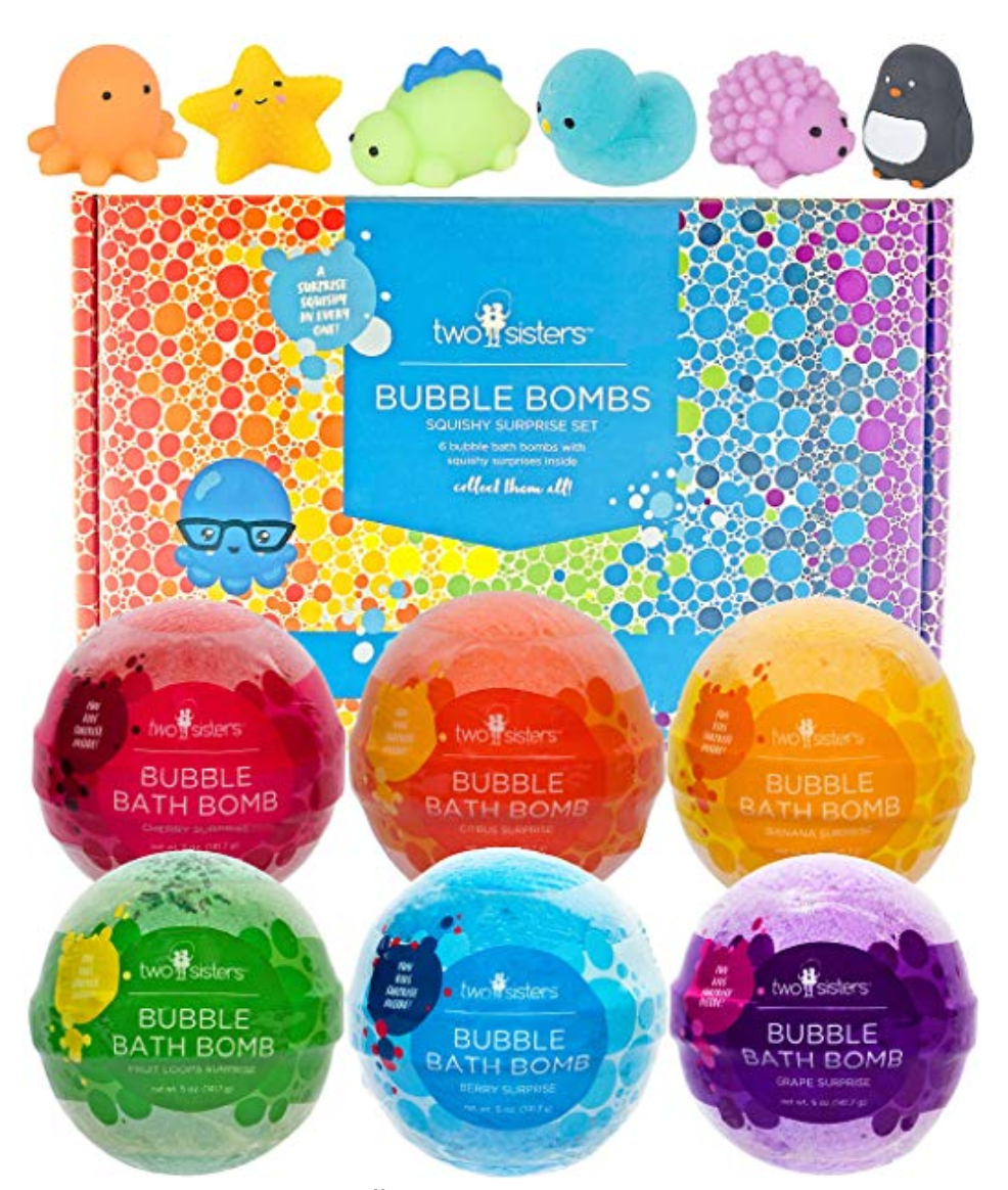 Fun and colorful bathbombs for kids.