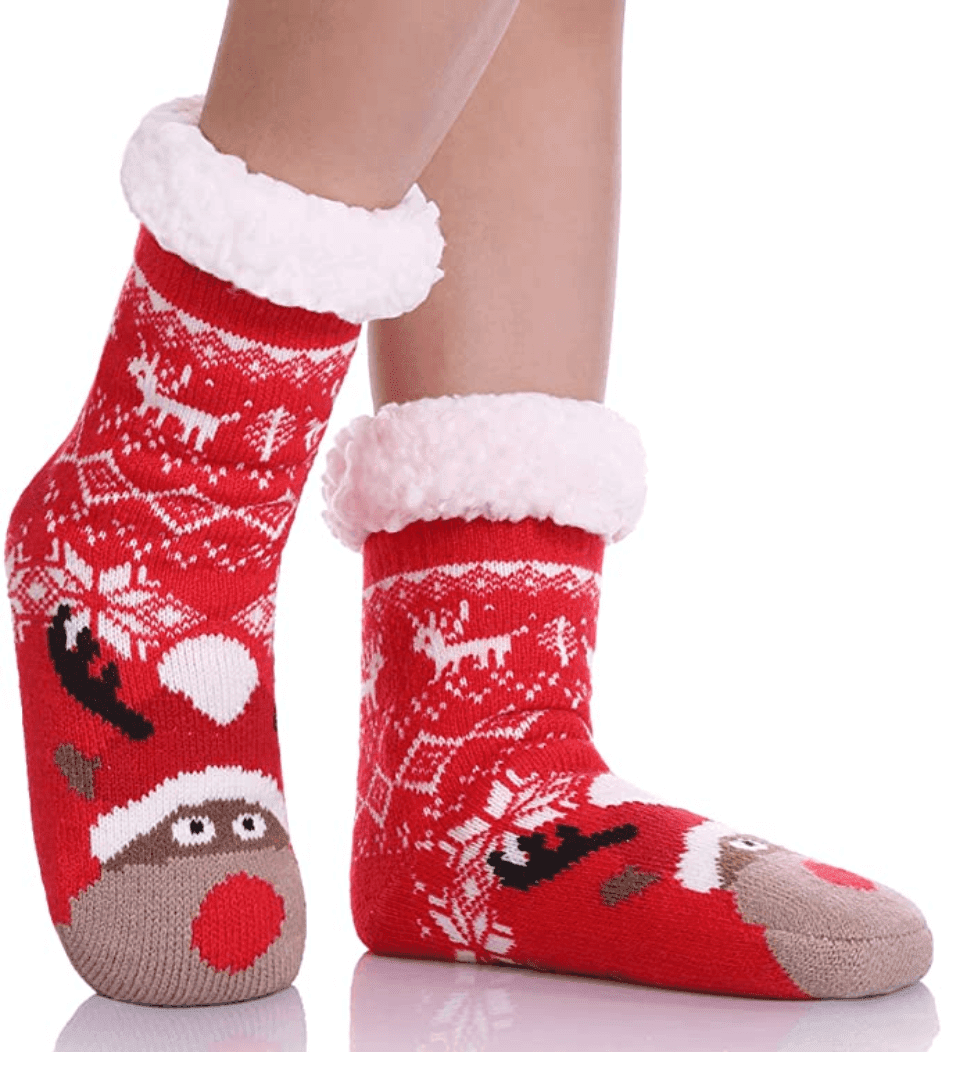 Fuzzy Animal Slipper Socks