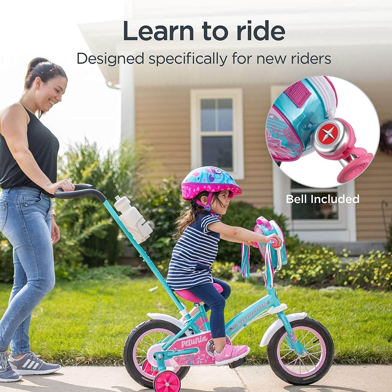 "Schwinn Grit and Petunia Steerable 12"" Kids Bike"