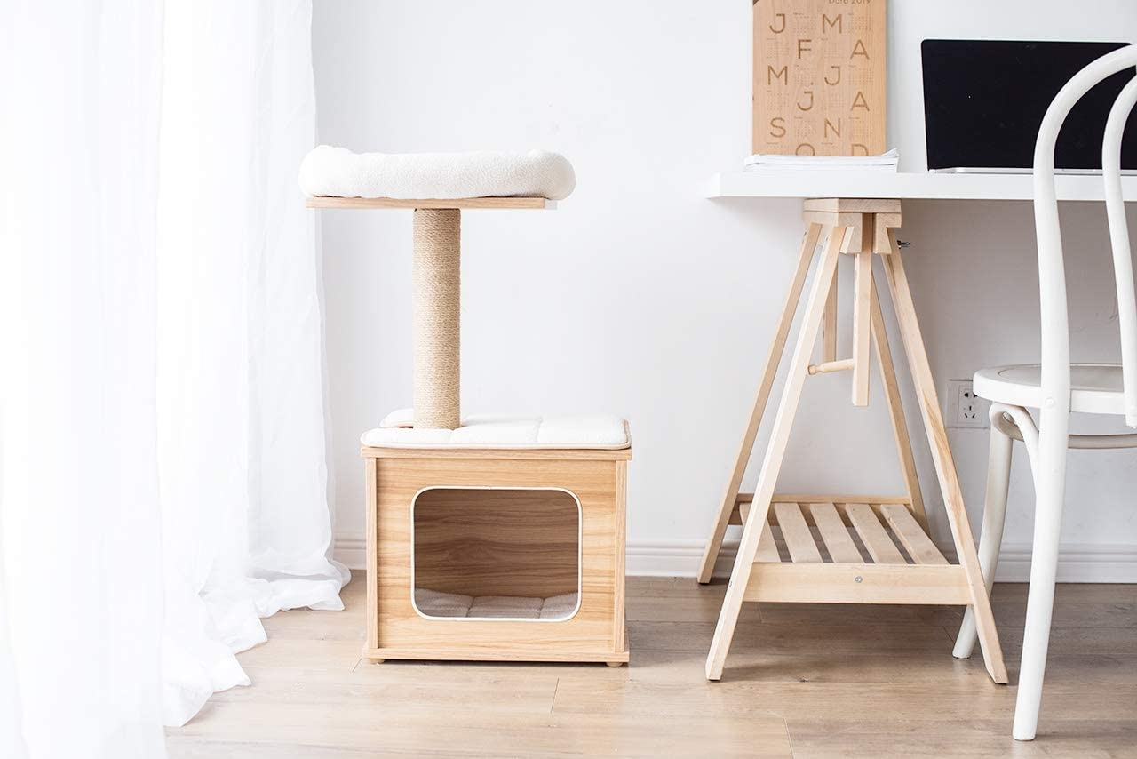 Catry Wooden Cat Tree Condo