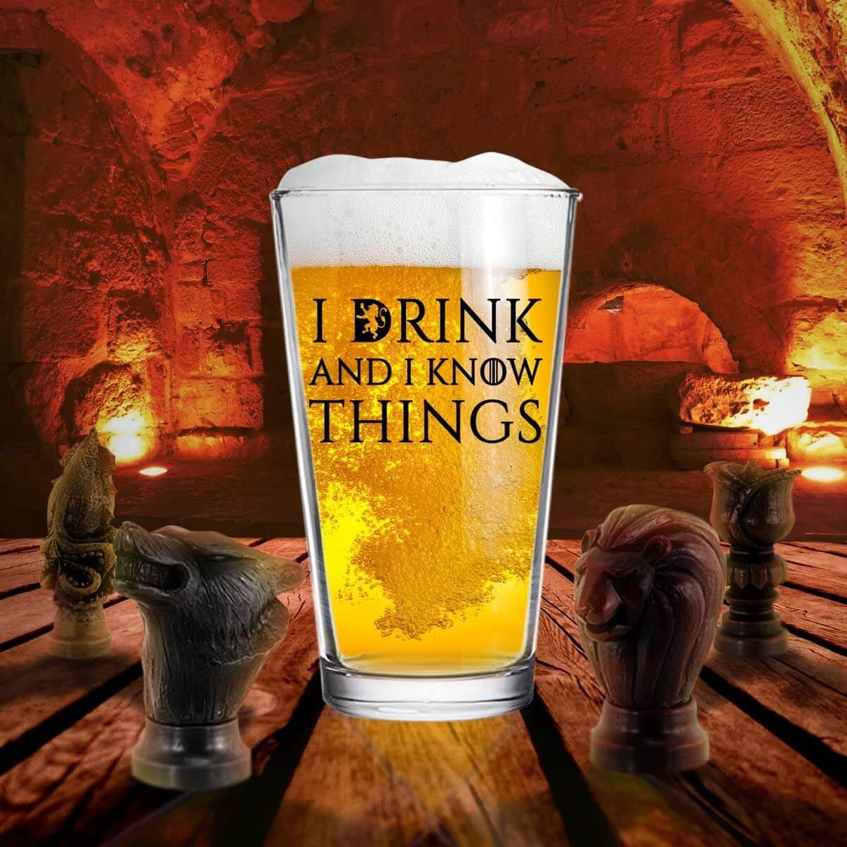 I Drink and I know Things Glass