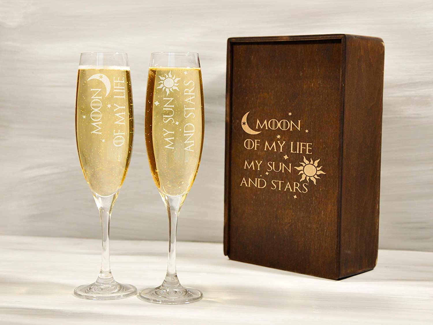 Game of Thrones Champagne Flute Set
