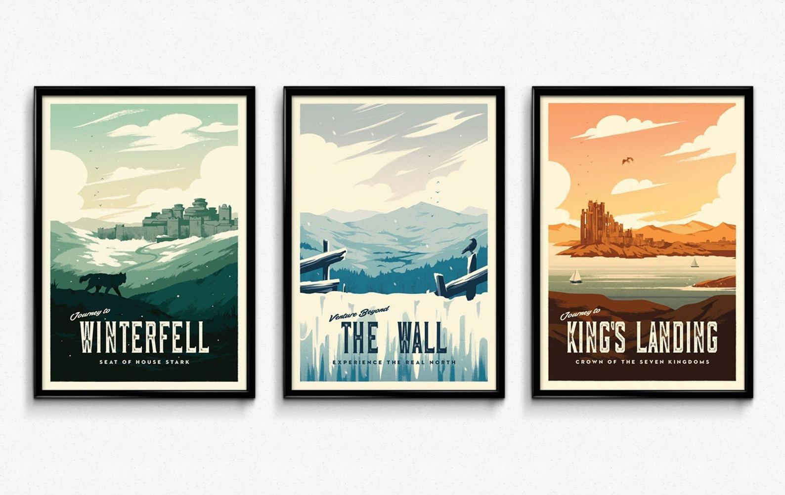 Game of Thrones Retro Travel Posters