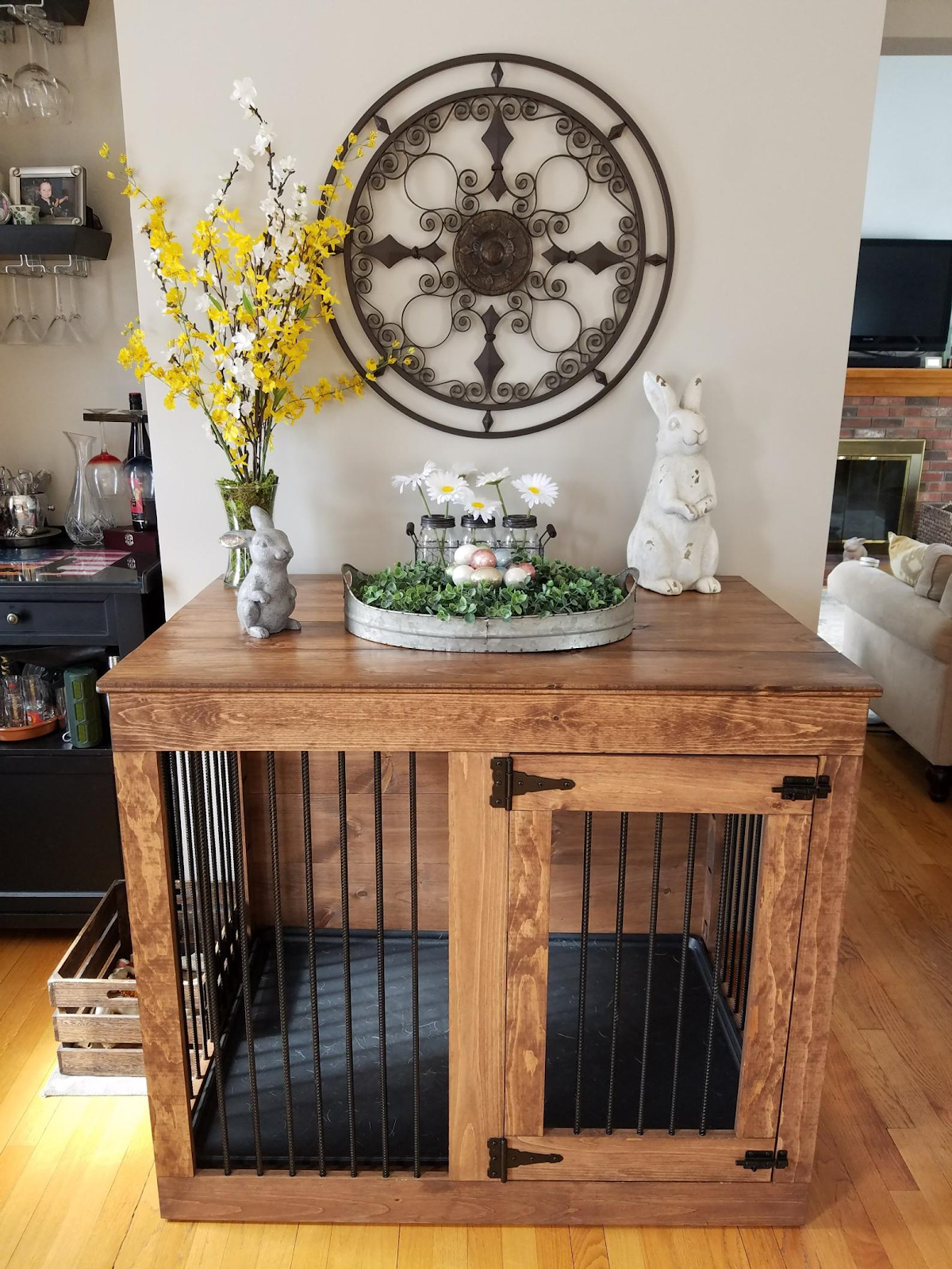 Dog Crate, Single Door, Custom Dog Furniture