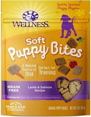 Wellness Soft Puppy Bites Grain-Free Lamb & Salmon Recipe Dog Treats