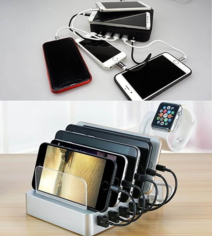 6 Device Charging Station