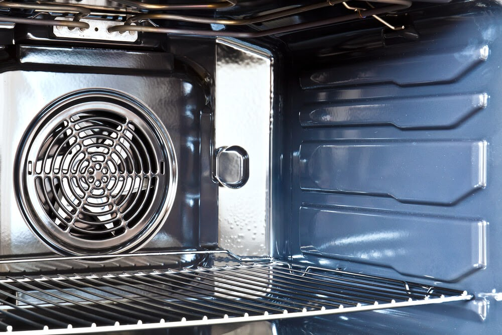 Close up of clean oven