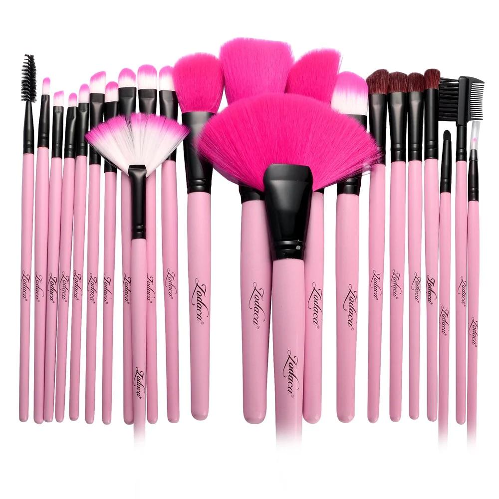 Zodaca 24 Piece Pink Professional Makeup Brush Set