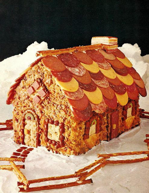 Meaty Cheesy Faux Gingerbread House