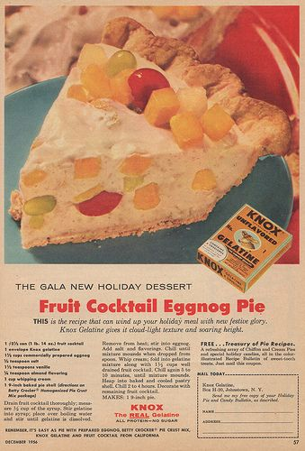 Fruit Cocktail Eggnog Pie