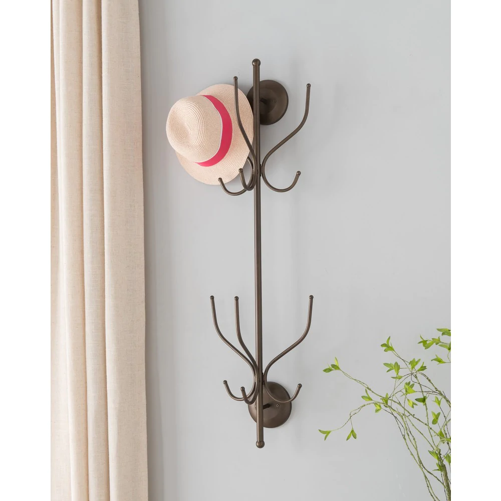 Wall-Mounted Hat and Coat Rack