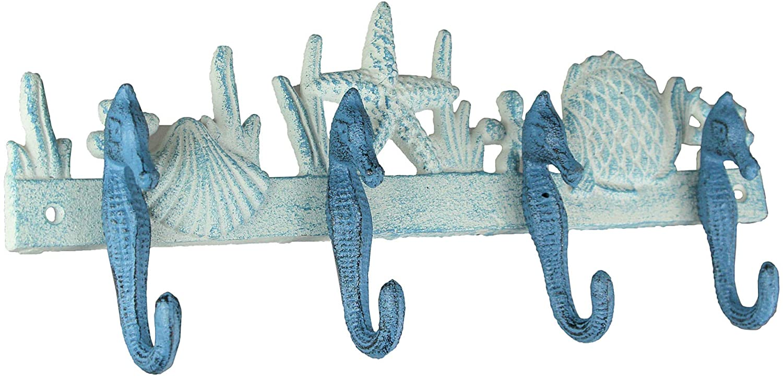 Cast Iron Seahorse Wall Rack