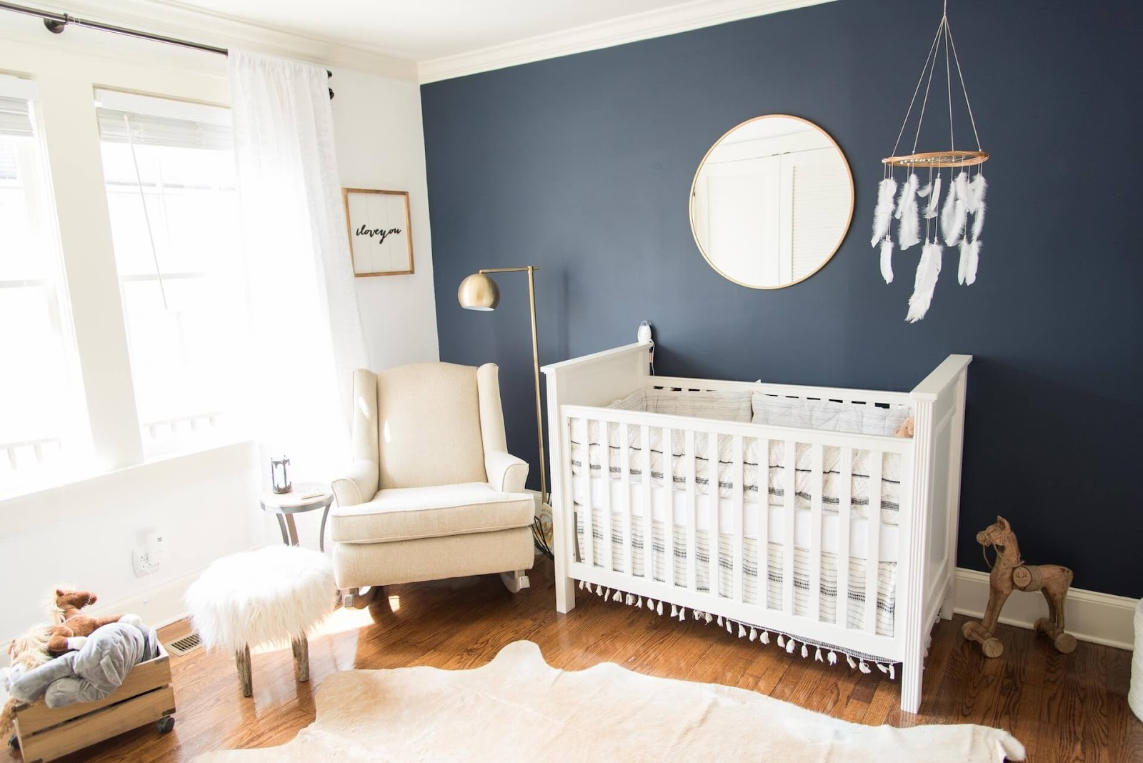 Room painted blue