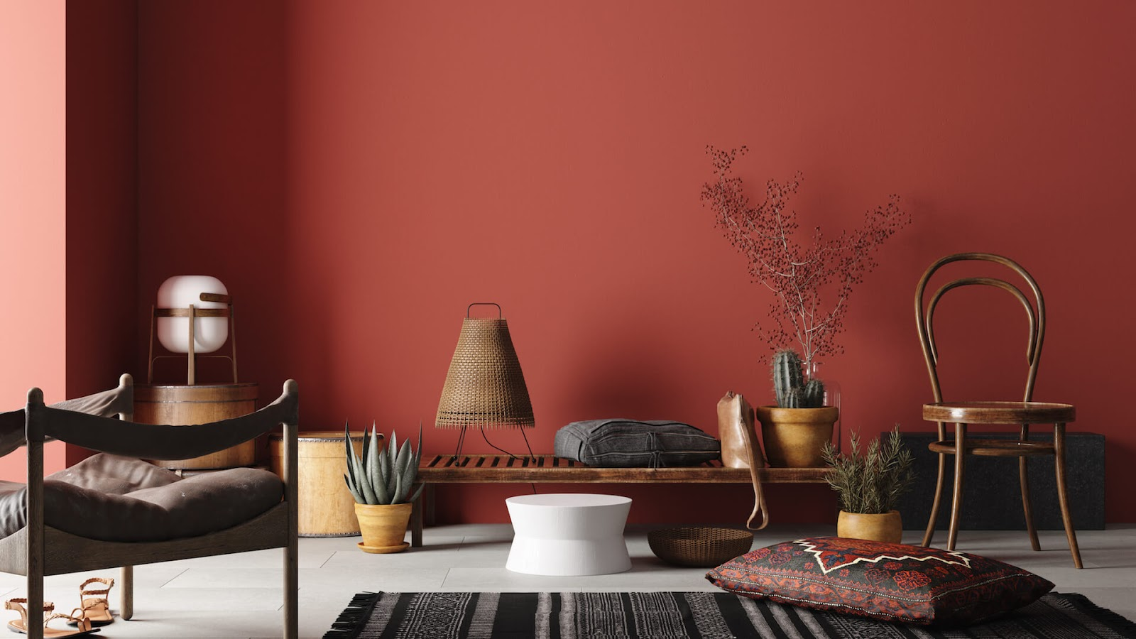room painted red