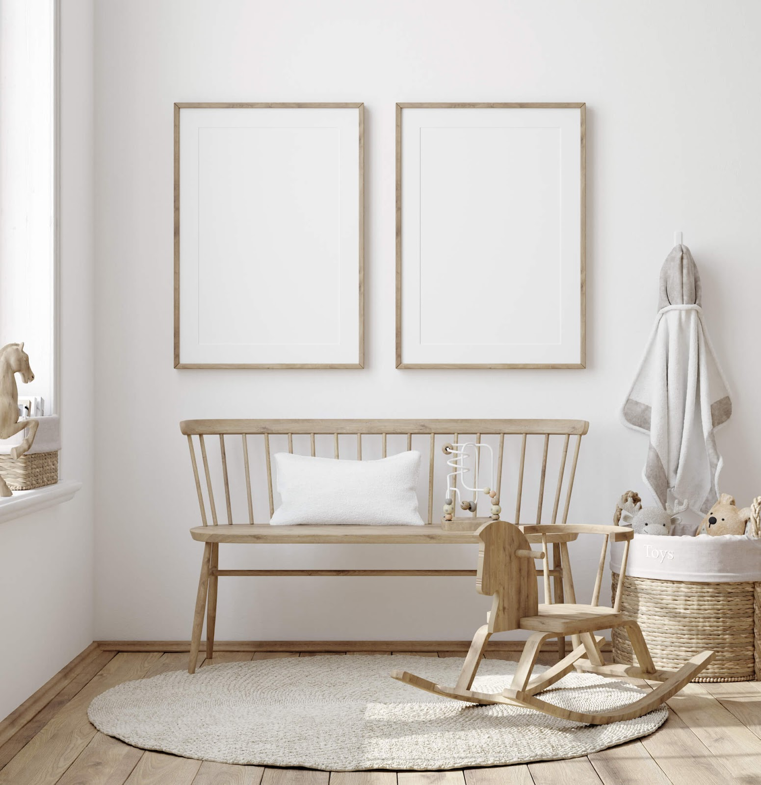 Room painted white