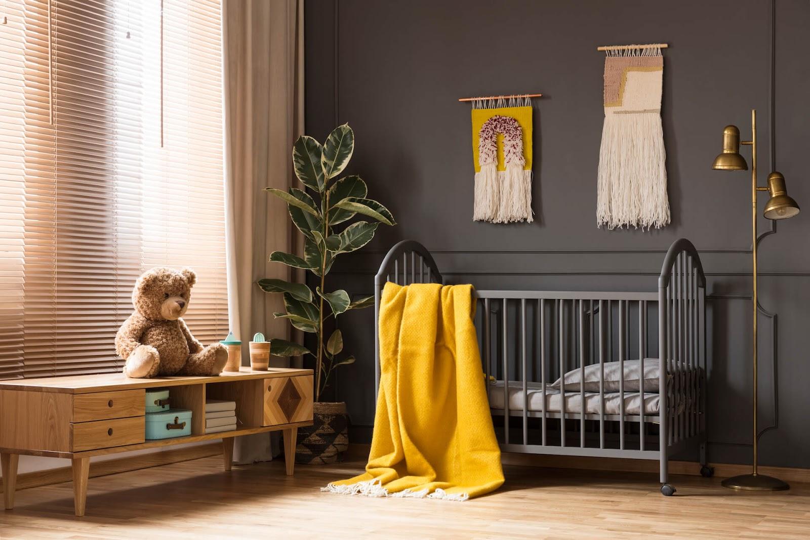 Room painted black