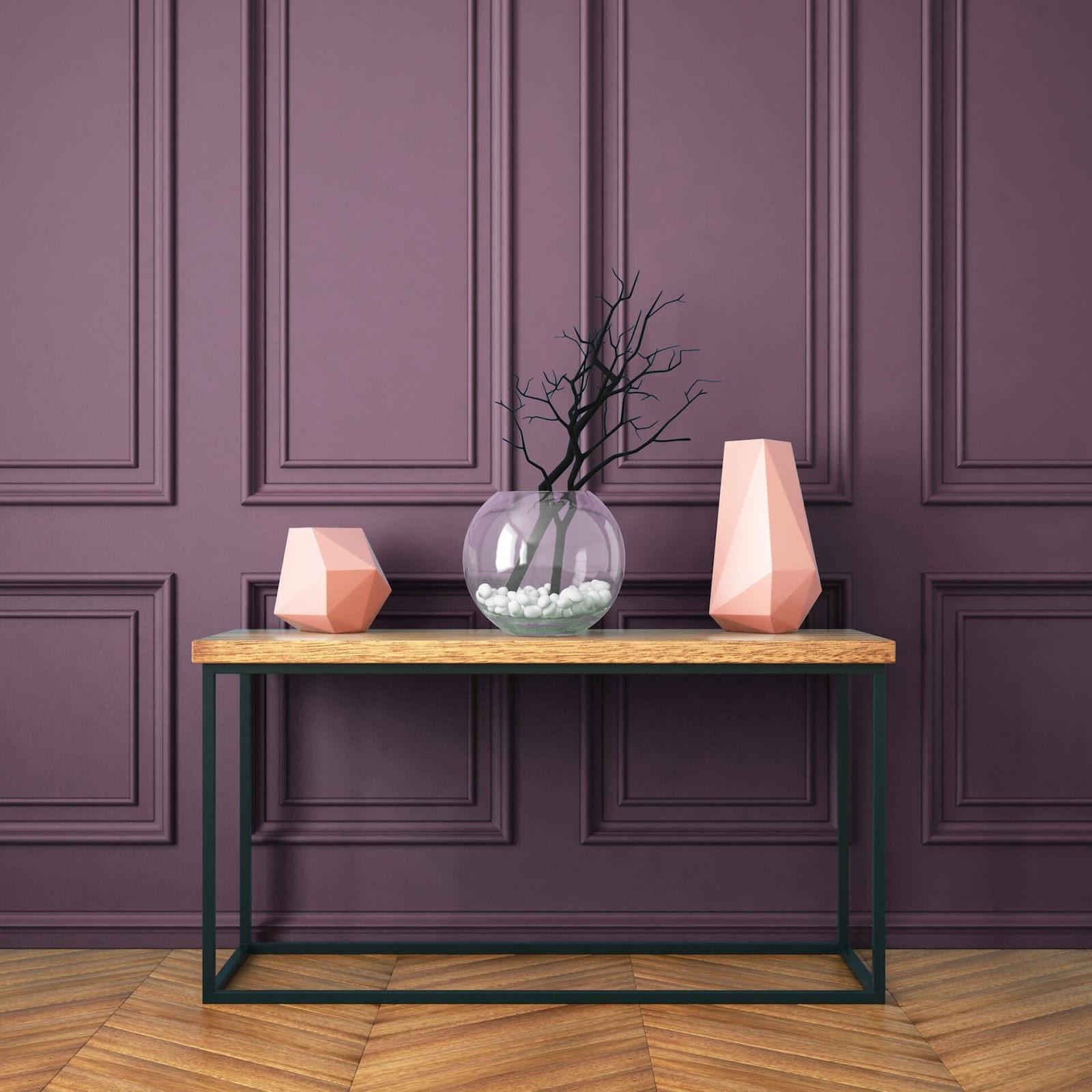 Room painted purple