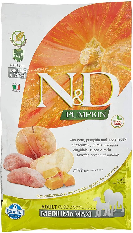 Farmina Grain-Free Pumpkin, Boar and Apple Dog Food (Legume- Free)