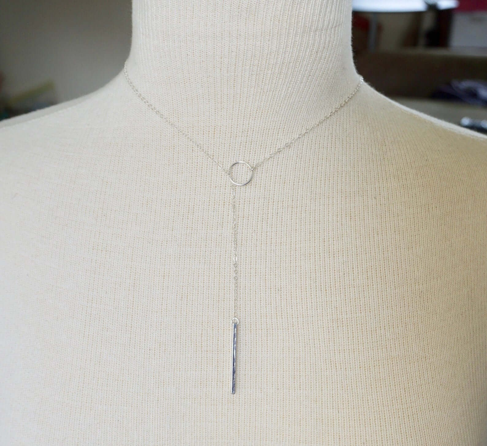 Bar and Lariat Necklace