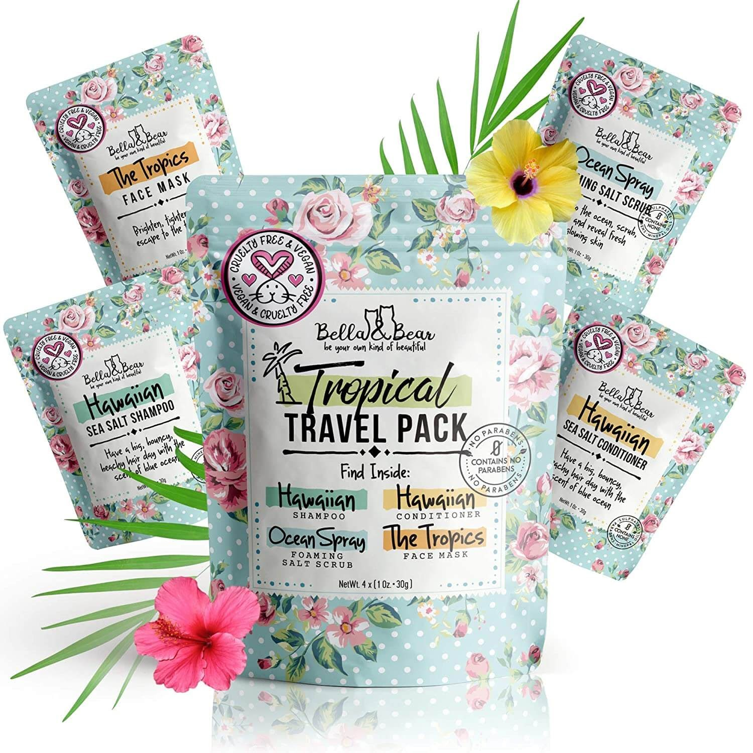 Bella And Bear - The Tropics Travel Size Face Mask
