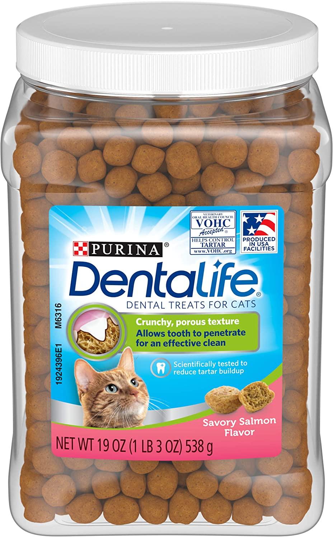 DentaLife Savory Salmon Flavor Dental Cat Treat