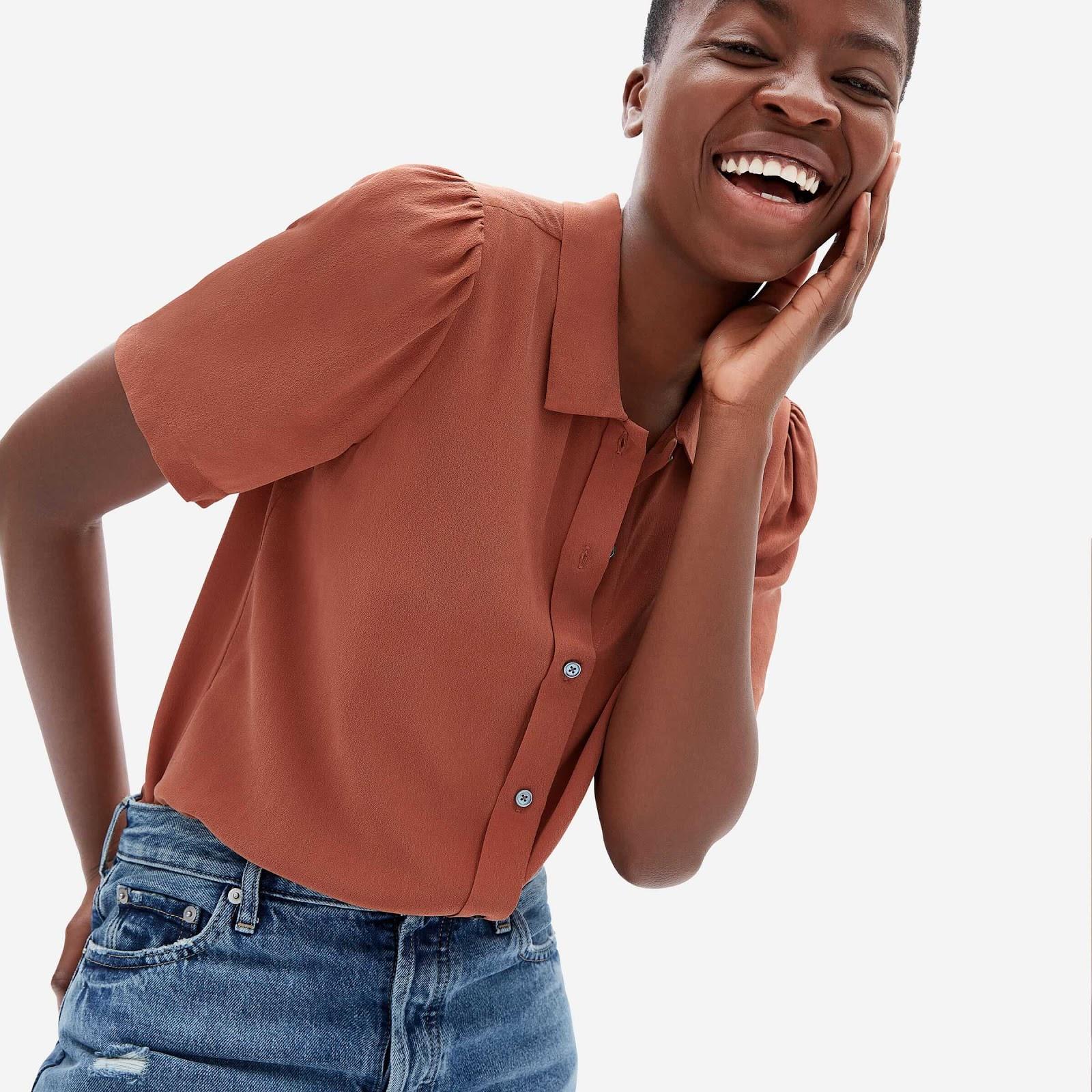 Everlane Puff Sleeve Shirt