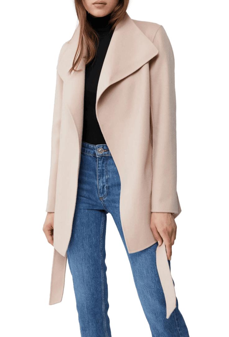 Mackage Azara Leather Wrap Coat