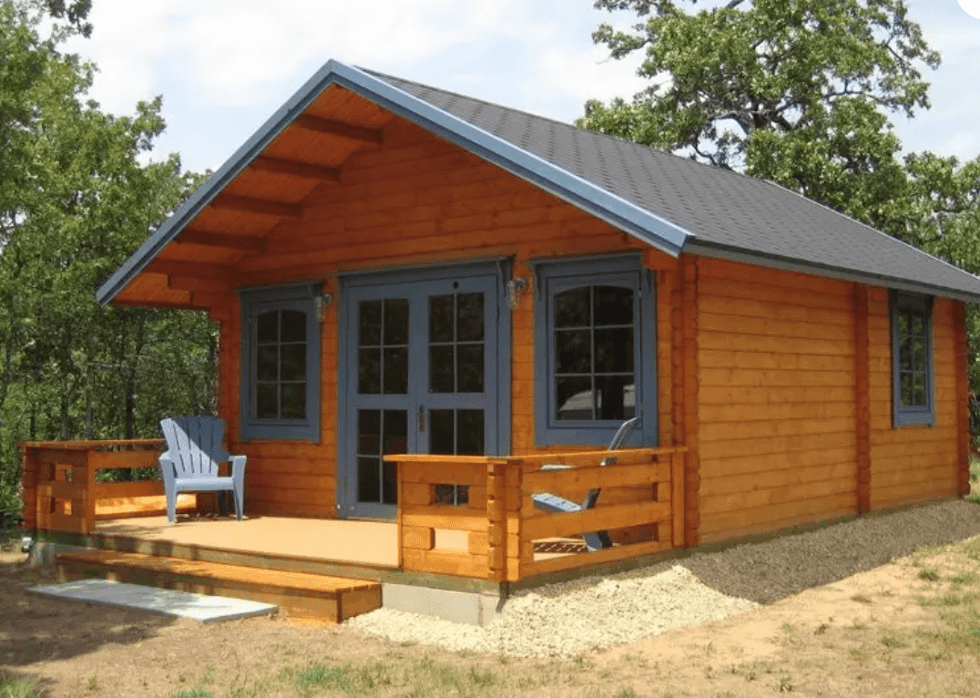 BZB Cabins and Outdoors Lillevilla Getaway Cabin Kit