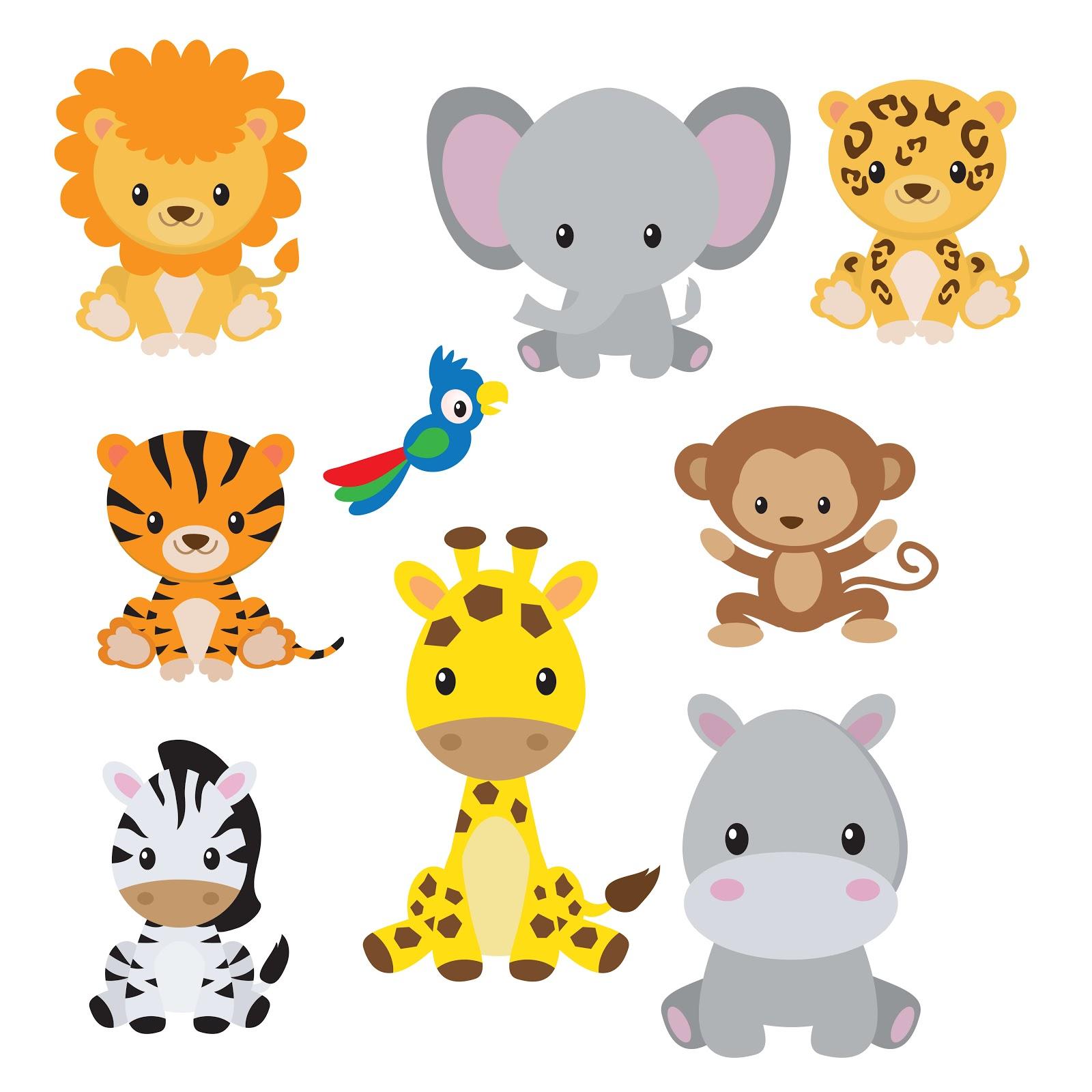 Baby animals, cartoon style