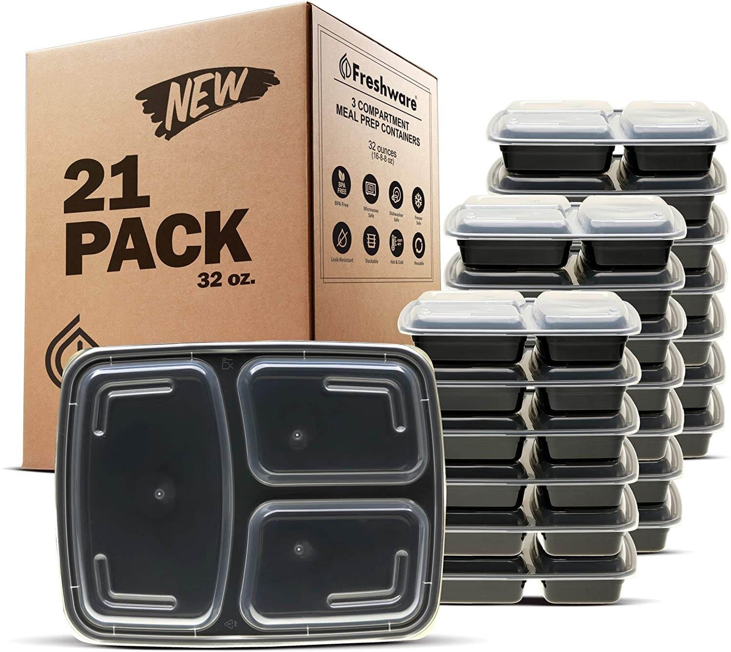 Freshware Meal Prep Container