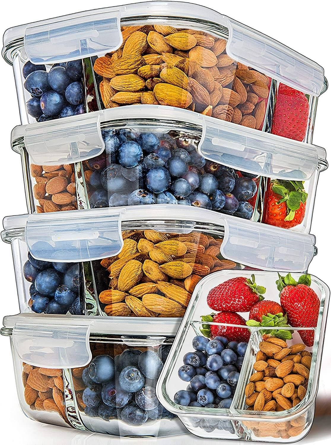 Prep Naturals Meal Prep Glass Containers